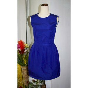Cameo Pouf Mini Dress Size 6 XS Crew Neck Iridescent Pearl Blue Cocktail Party